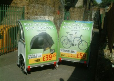 Decathlon Outdoor Media Campaign with Pedicab