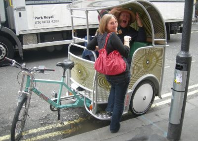Big Brother Campaign Outdoor Media with pedicab
