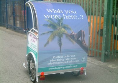 London Pedicabs Advertising