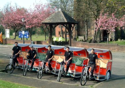 E.ON FA CUP pedicab fleet